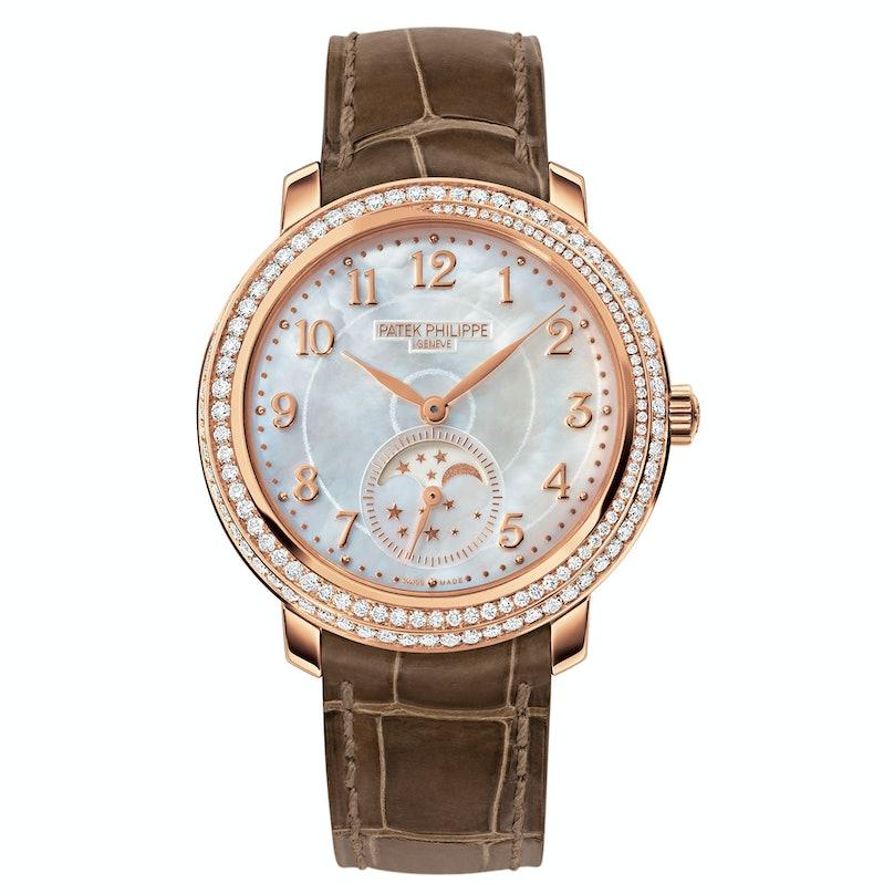Patek Philippe rose gold and diamond watch