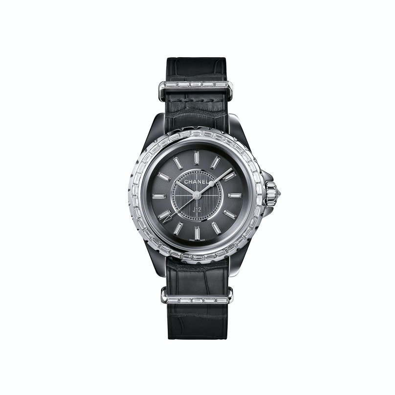 CHANEL titanium ceramic, steel, and diamond watch