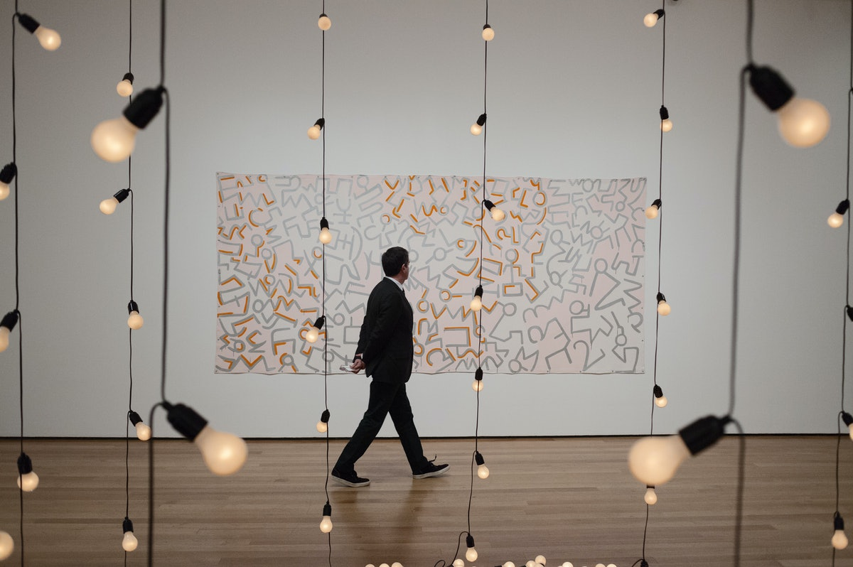 Installation view of Sturtevant: Double Trouble at The Museum of Modern Art