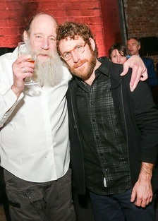 Lawrence Weiner and Dustin Yellin