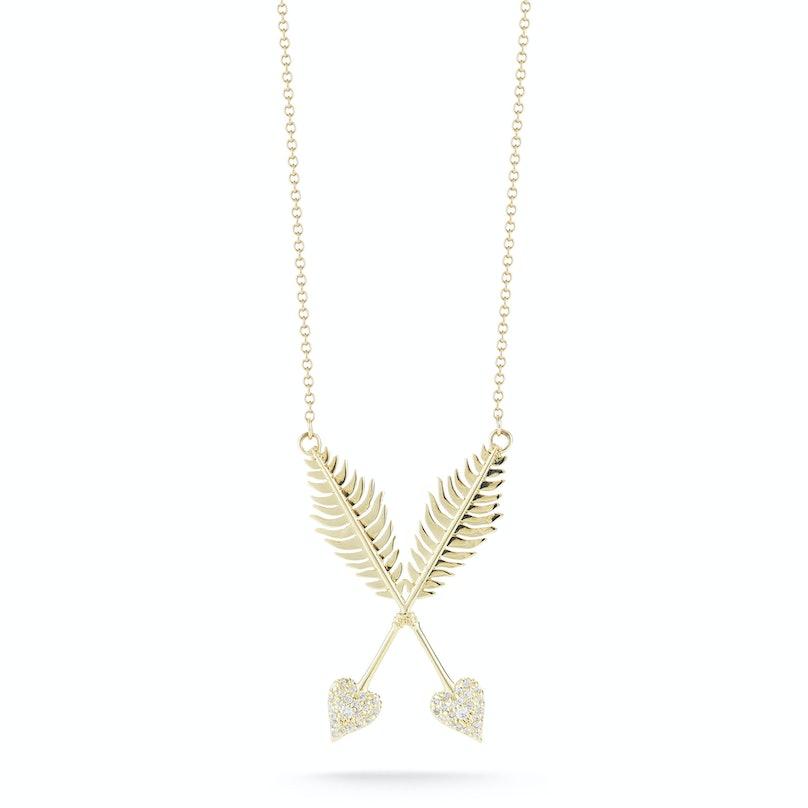Mizuki arrow pendant necklace