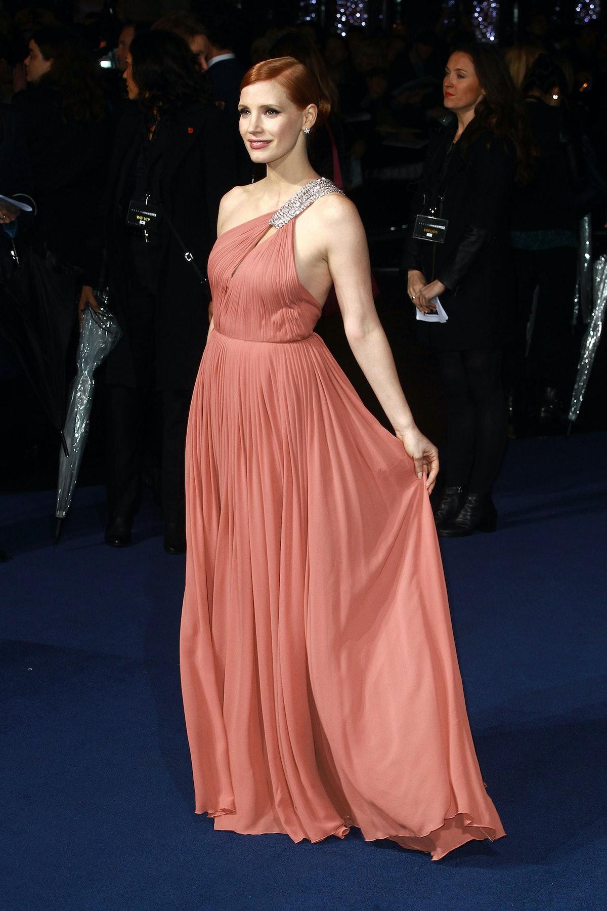 Jessica Chastain in Saint Laurent
