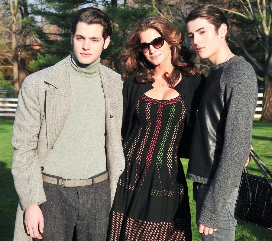 Peter Brant, Stephanie Seymour, and Harry Brant.