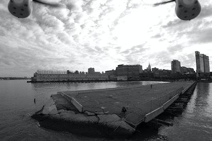 Pier 54: Liz Magic Laser, Directions for a photographer and a DJI Phantom Aerial UAV Drone Quadcopte...