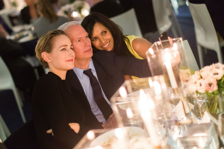 Leelee Sobieski, Klaus Biesenbach, and Padma Lakshmi