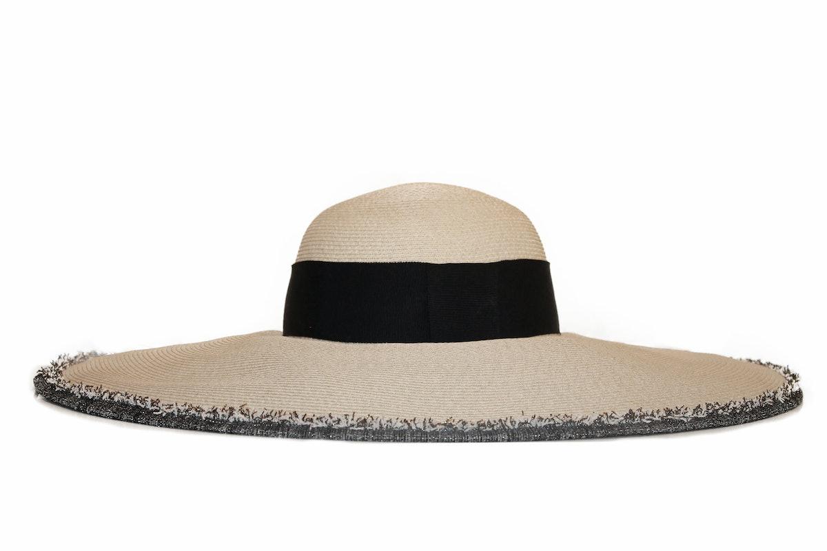 wide-brim toyo hat by Eugenia Kim.