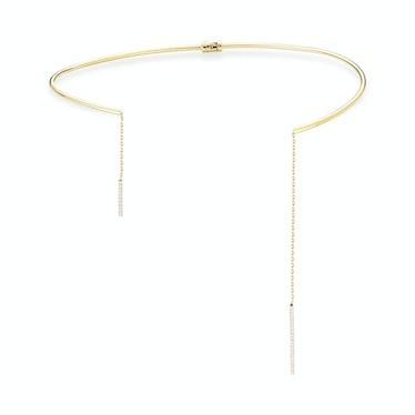 Mateo New York 14k yellow gold and diamond collar
