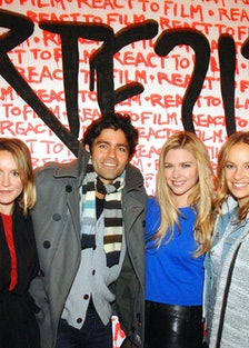 Lily Johnson White, Adrian Grenier, Lacey Dorn, and Coralie Charriol Paul