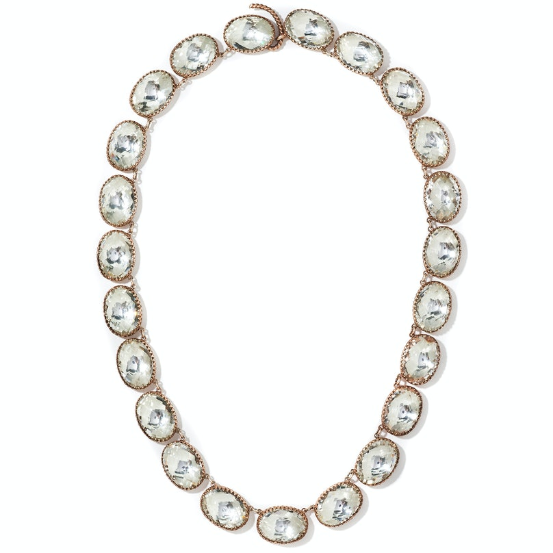 Larkspur & Hawk gold-wash sterling silver and topaz necklace