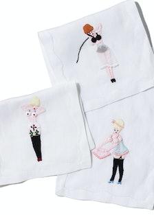 Monogrammed Linen Shop cocktail napkins