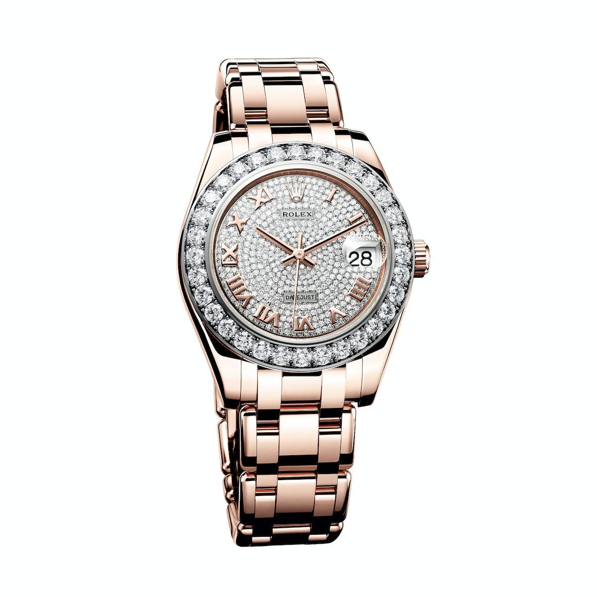 Rolex gold and diamond watch