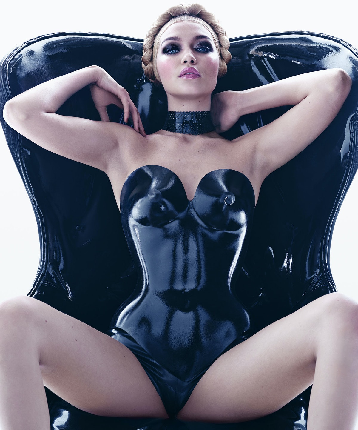 Gigi Hadid photographed by Steven Meisel, styled by Carine Roitfeld for the 2015 Pirelli Calendar