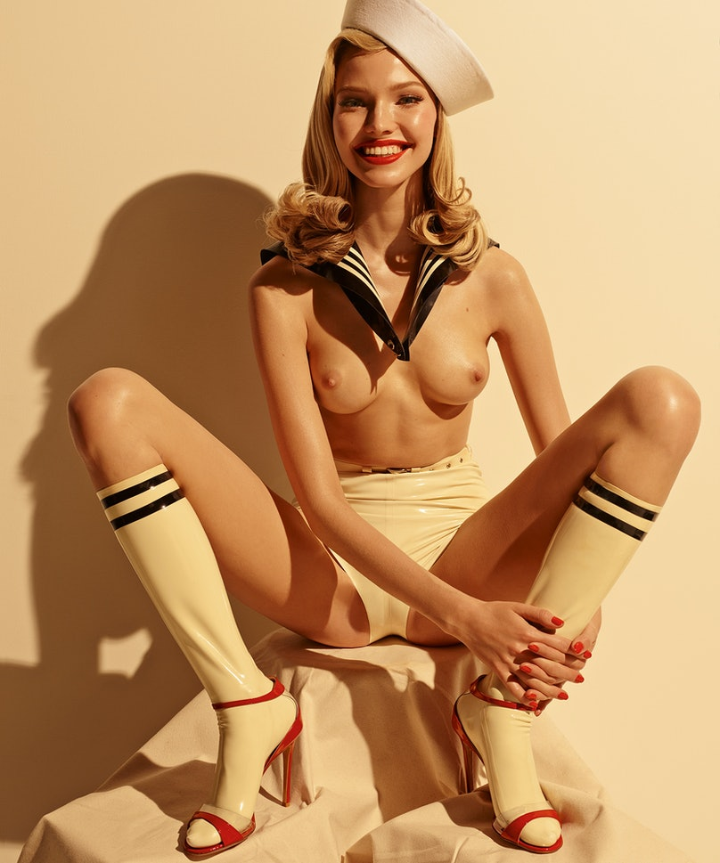 Sasha Luss photographed by Steven Meisel, styled by Carine Roitfeld for the 2015 Pirelli Calendar