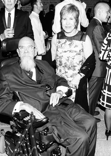 Chuck Close and Milly Glimcher