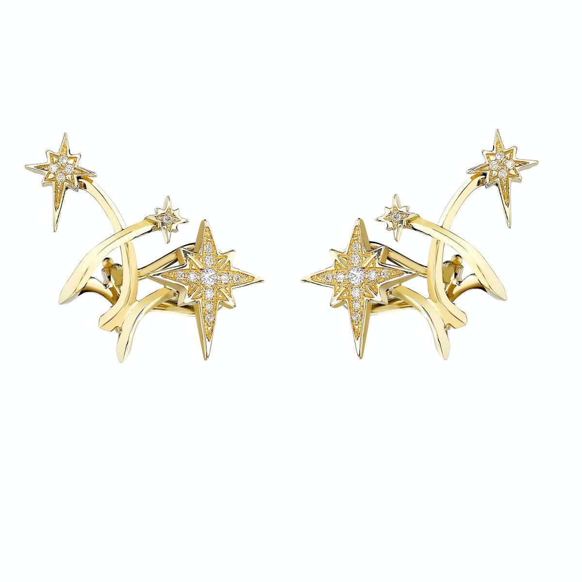 Venyx 18k gold and diamond Lady Australis ear cuffs