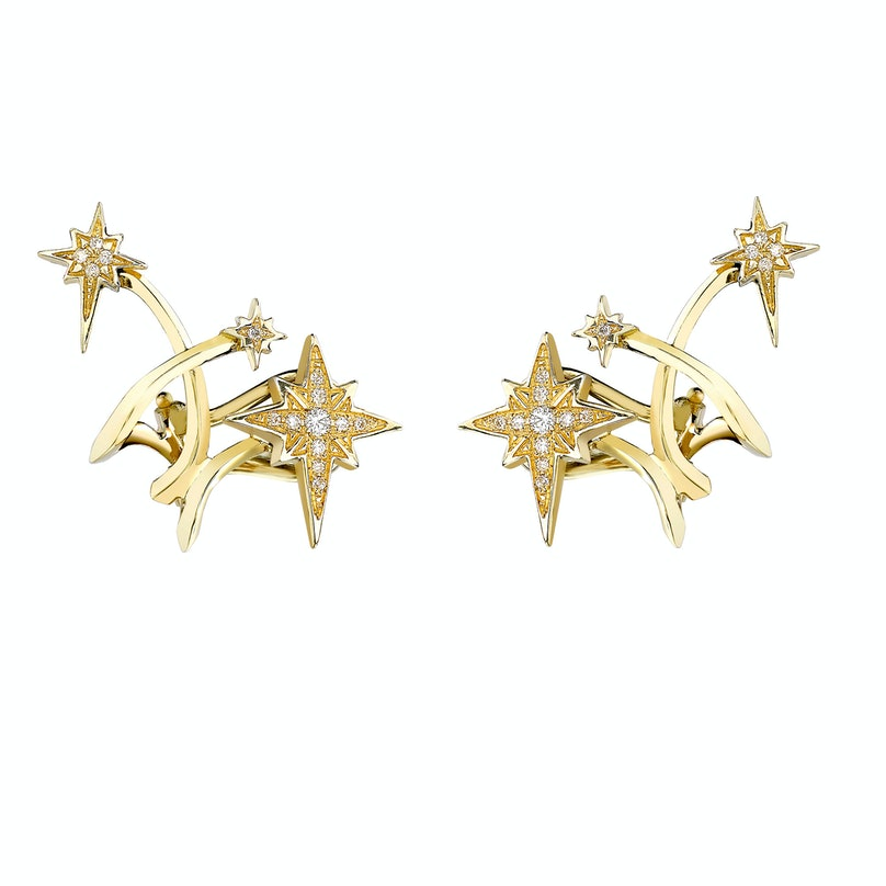 Venyx 18k gold and diamond Lady Australis ear cuffs