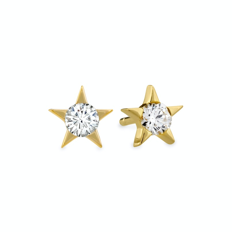 Hearts on Fire 18k gold and diamond Illa studs
