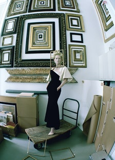 Tilda Swinton at the de Menil Collection.