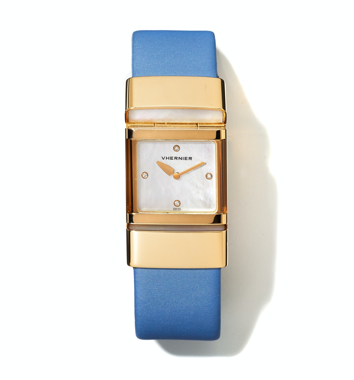 Vhernier gold, mother-of-pearl, and diamond watch