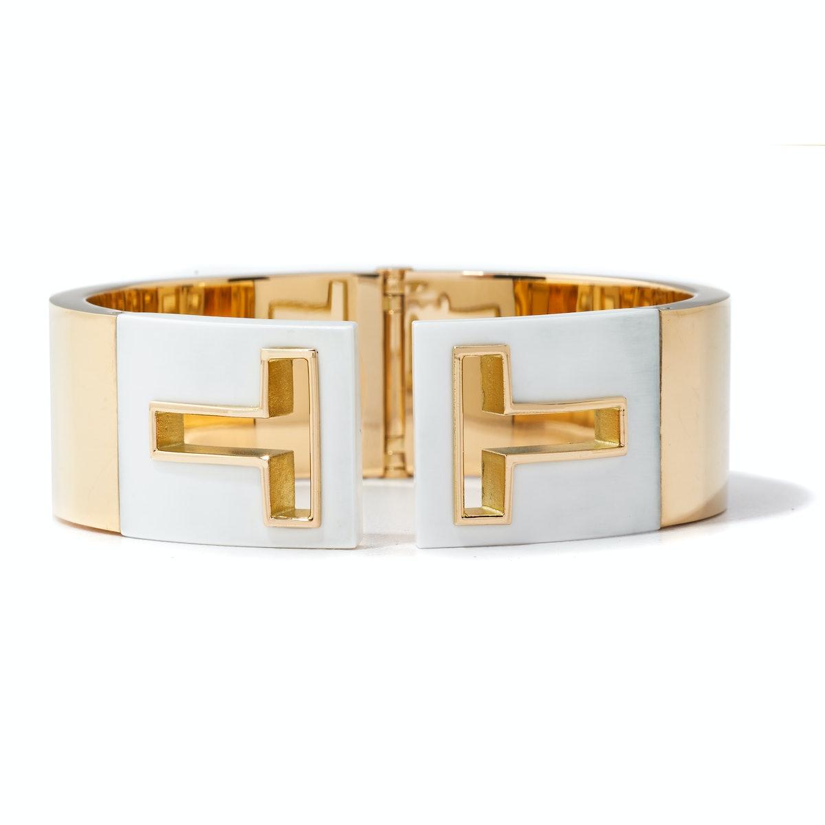 Tiffany & Co. gold and ceramic cuff,