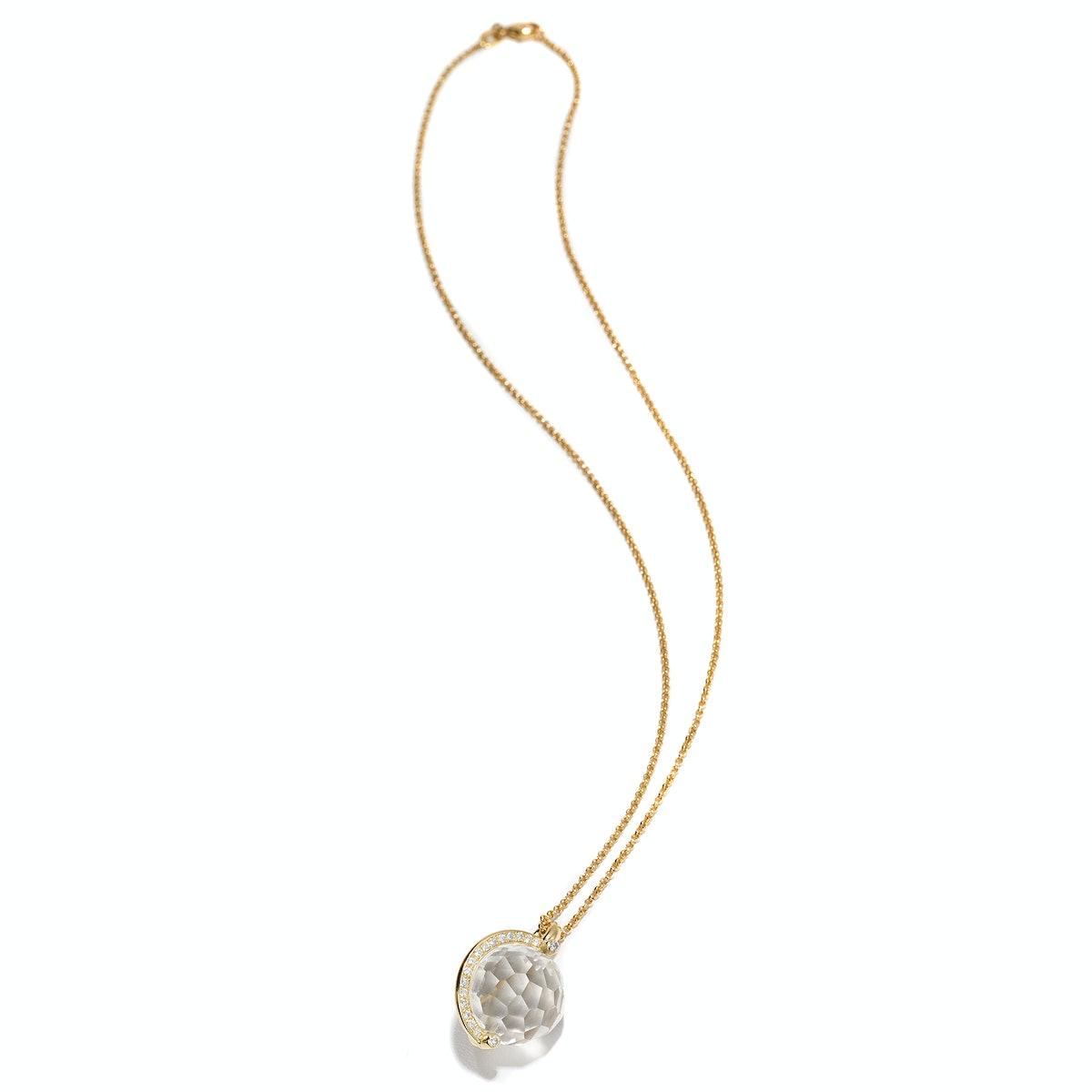 Yael Sonia gold, quartz, and diamond necklace
