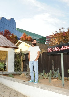 Founder Greg Chait outside the store