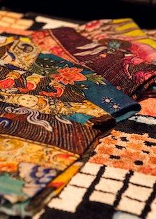 Carini Lang graffiti artisan rugs