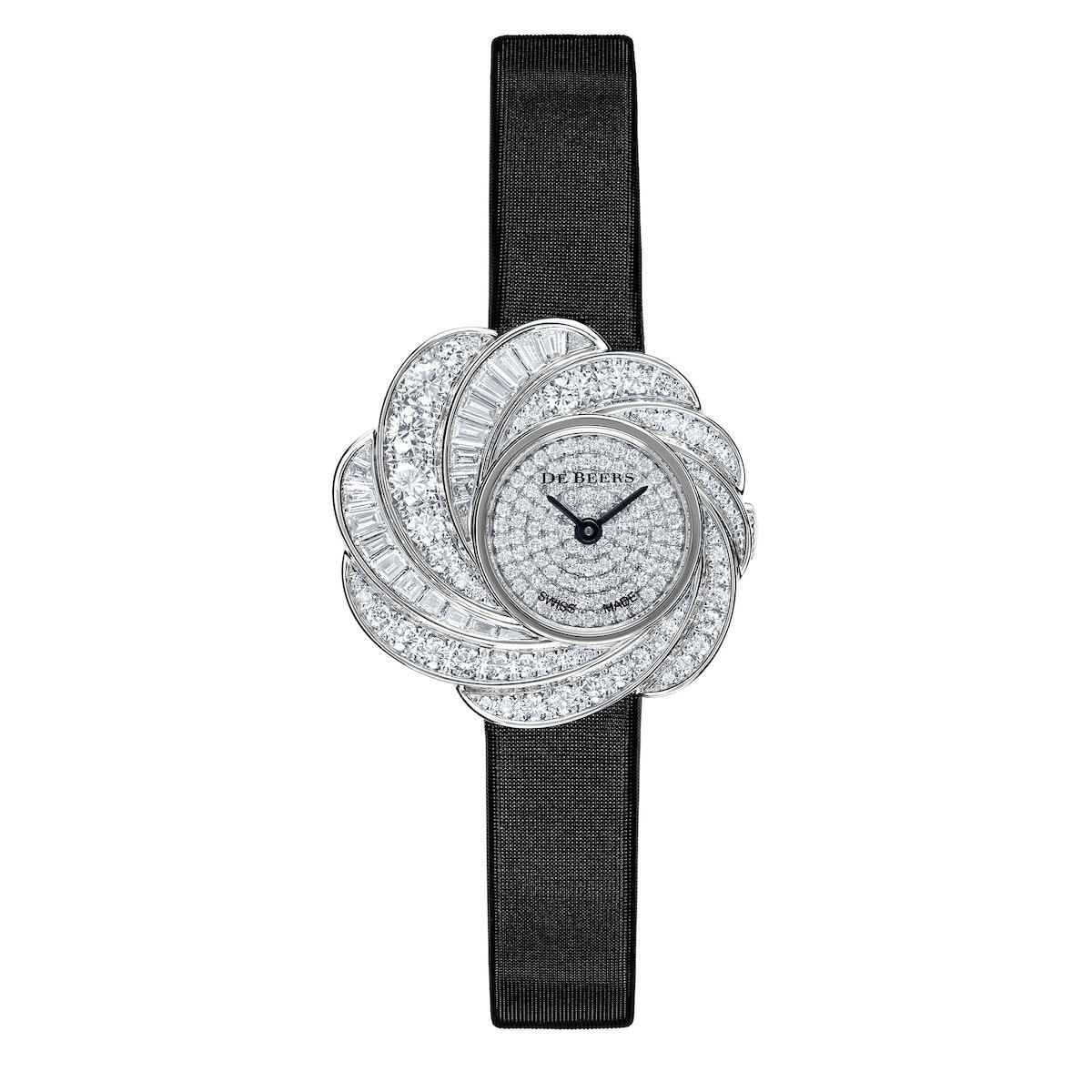 De Beers gold and diamond watch