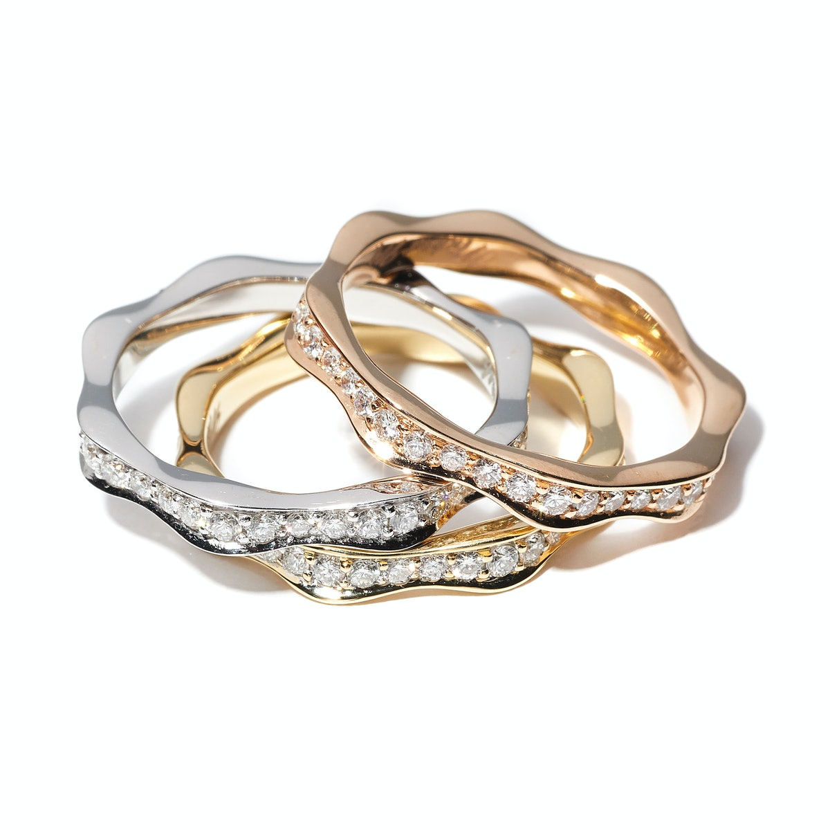 Michael M. Collection gold and diamond rings