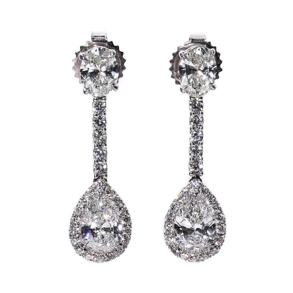 Forevermark gold and diamond earrings