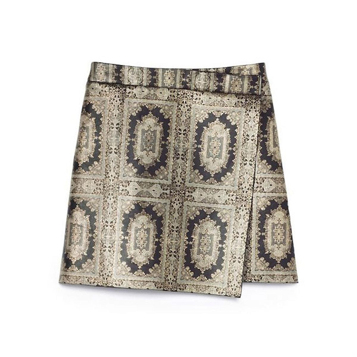 Tory Burch embellished kilt skirt