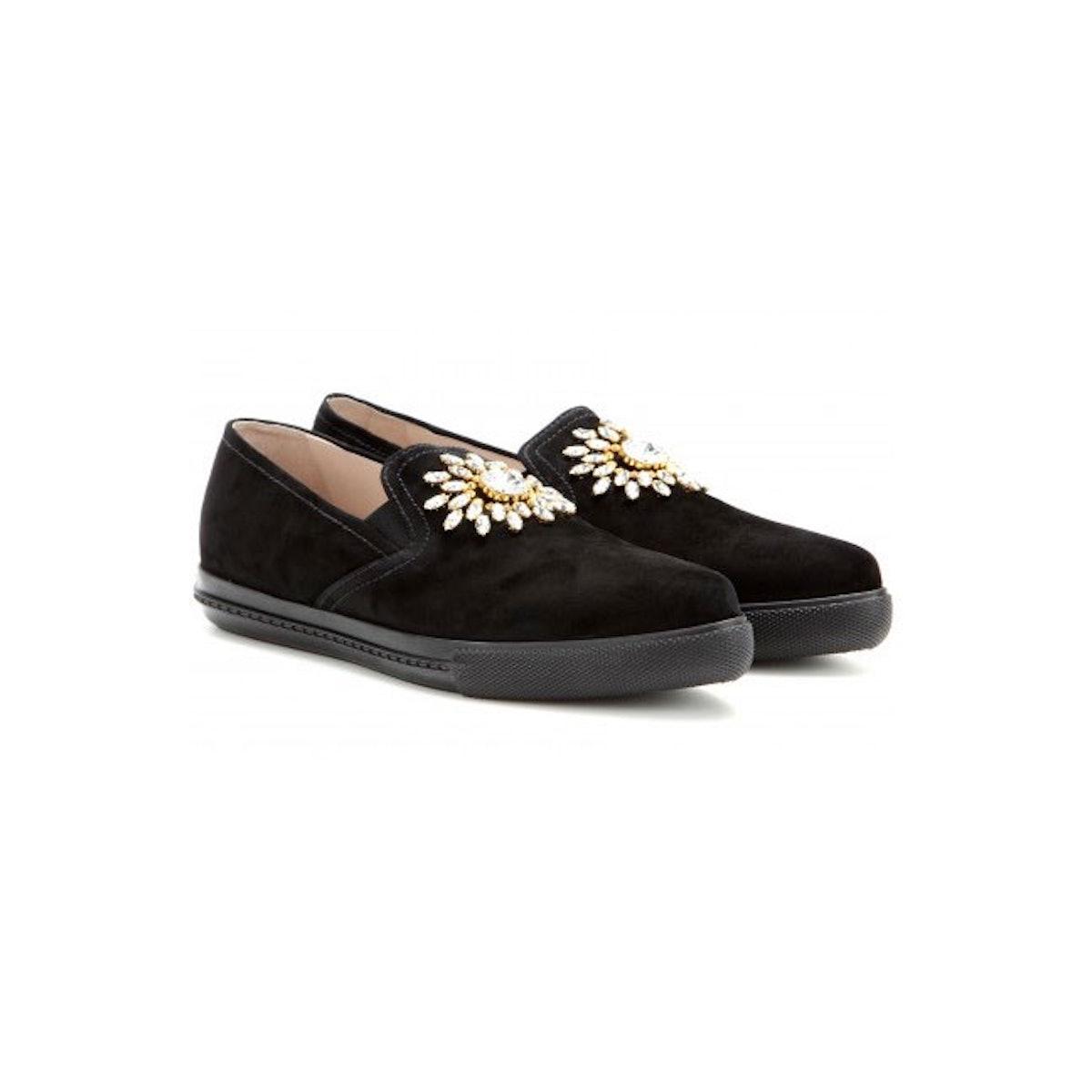 Miu Miu velvet shoes