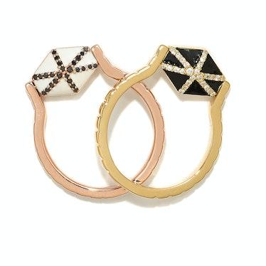 Zaiken Jewelry gold, diamond, and enamel rings