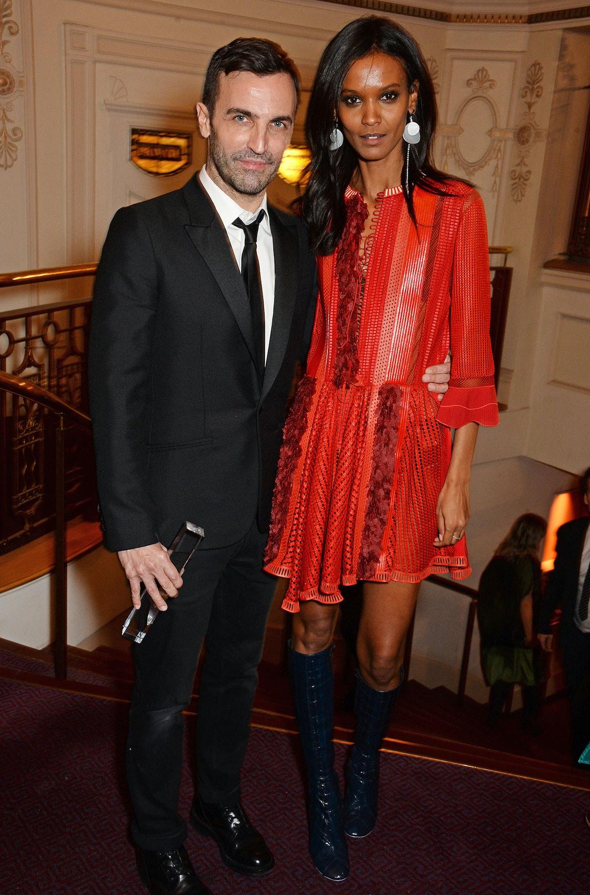 Nicolas Ghesquiere and Liya Kebede