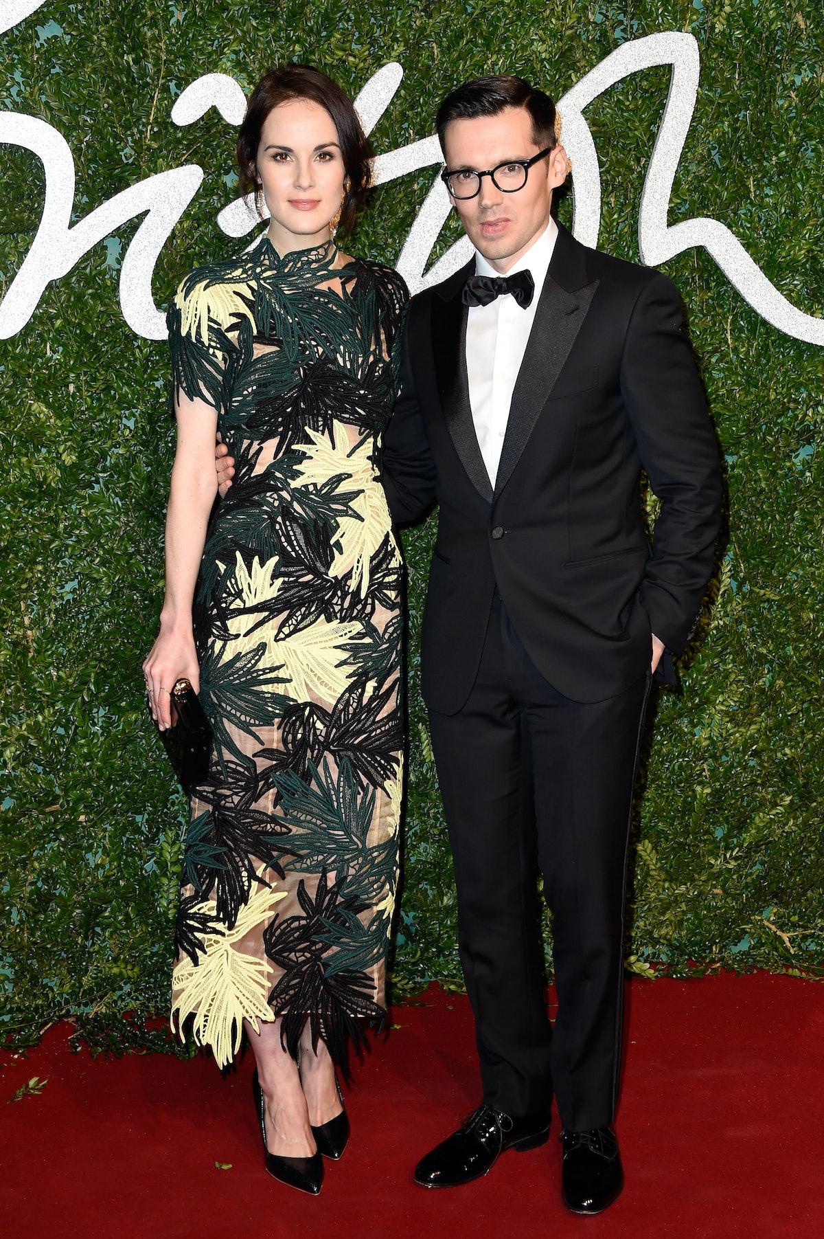 Michelle Dockery and Erdem Moralioglu