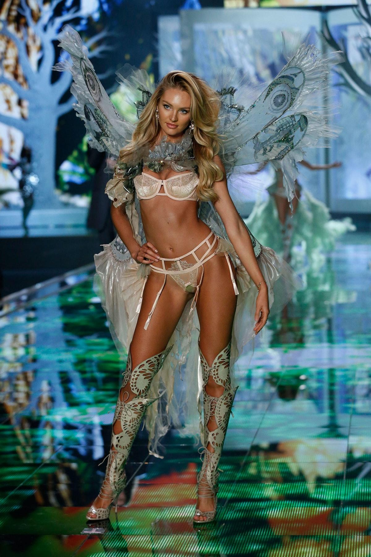Candice Swanepoel walks in the 2014 Victoria's Secret Fashion Show