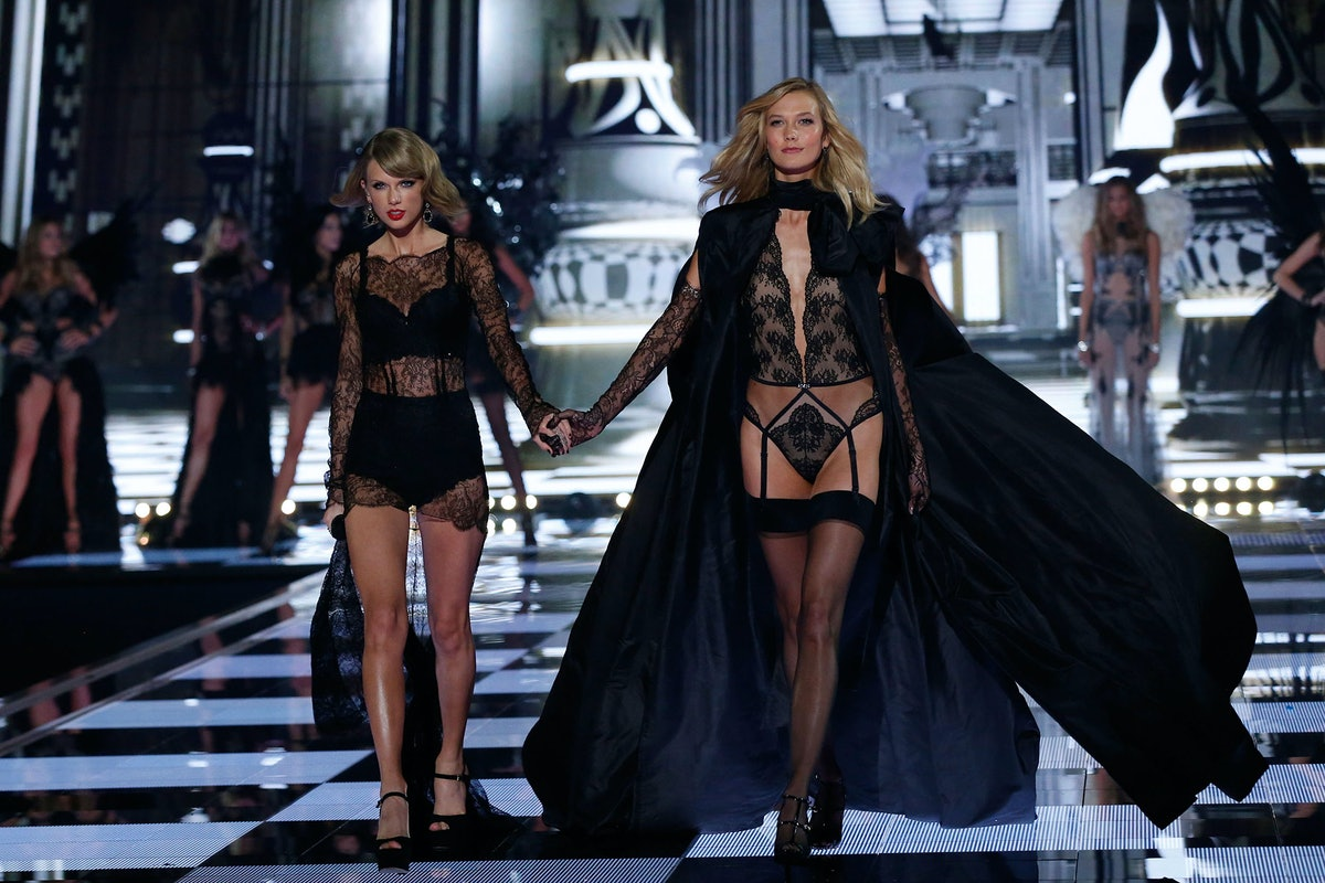 Taylor Swift and Karlie Kloss in the 2014 Victoria's Secret Fashion Show
