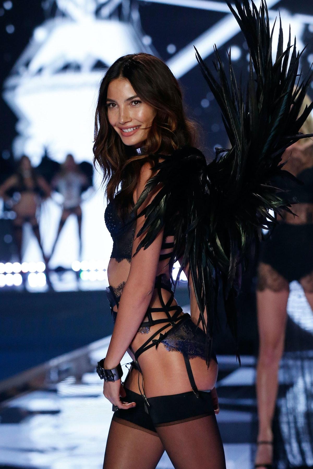 Lily Aldridge walks in the 2014 Victoria's Secret Fashion Show
