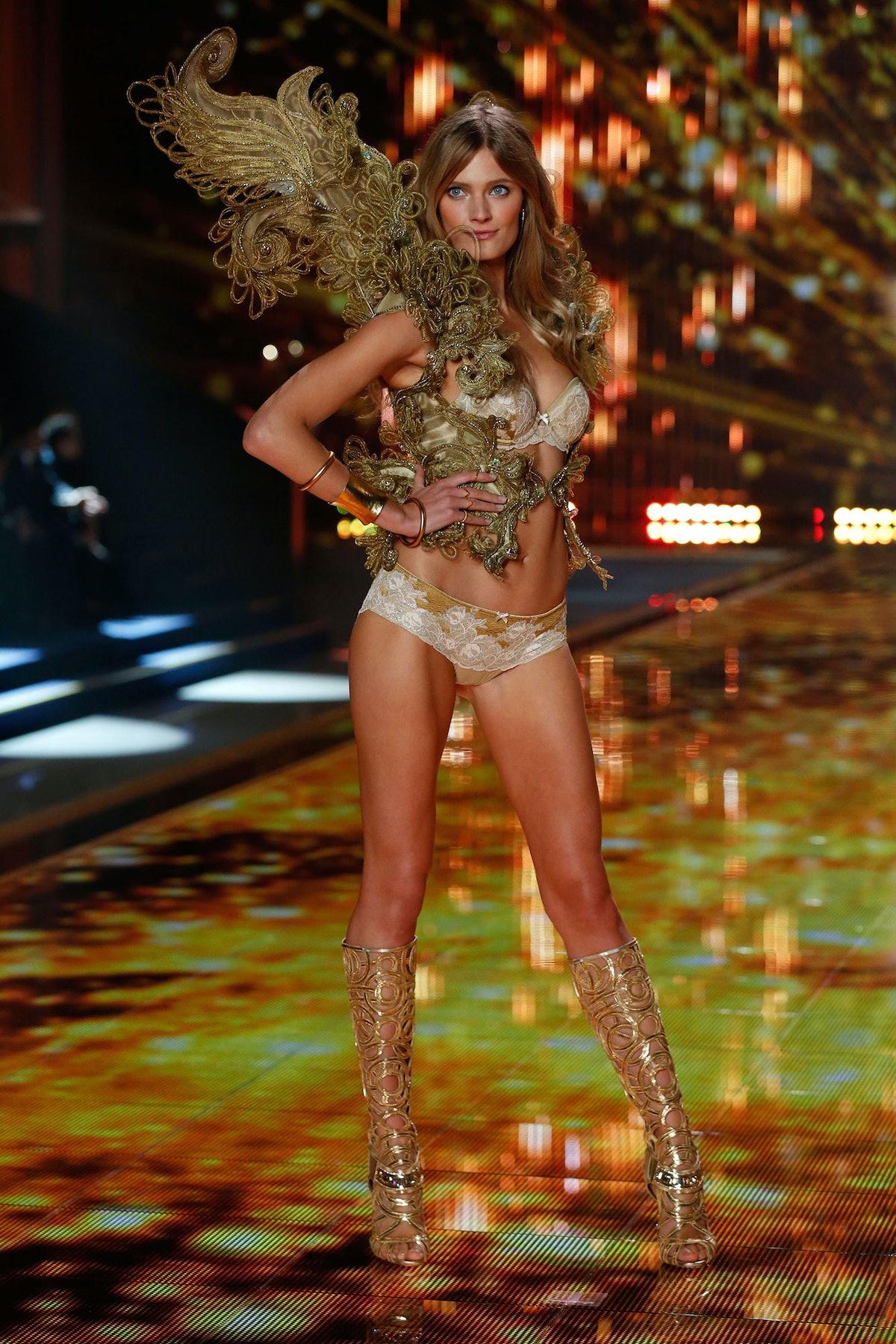 Constance Jablonski walks in the 2014 Victoria's Secret Fashion Show