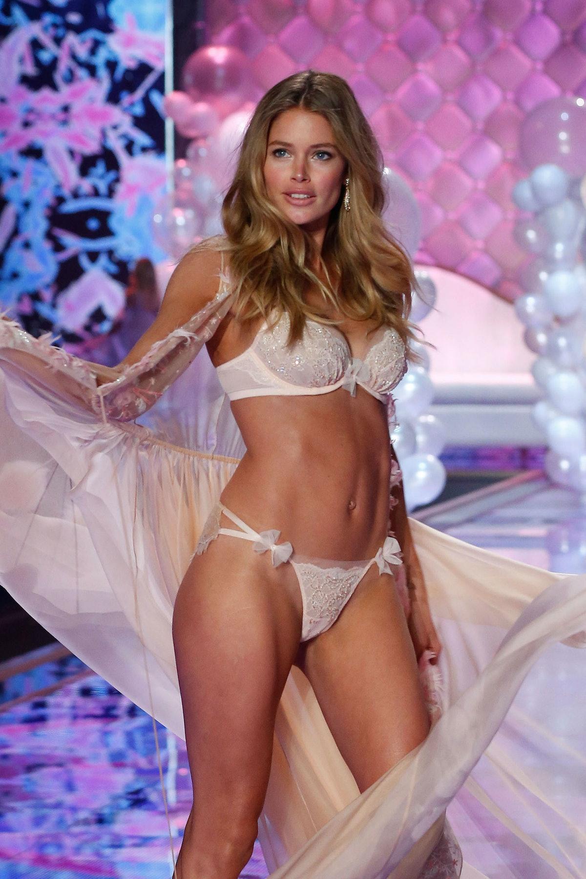 Doutzen Kroes walks in the 2014 Victoria's Secret Fashion Show