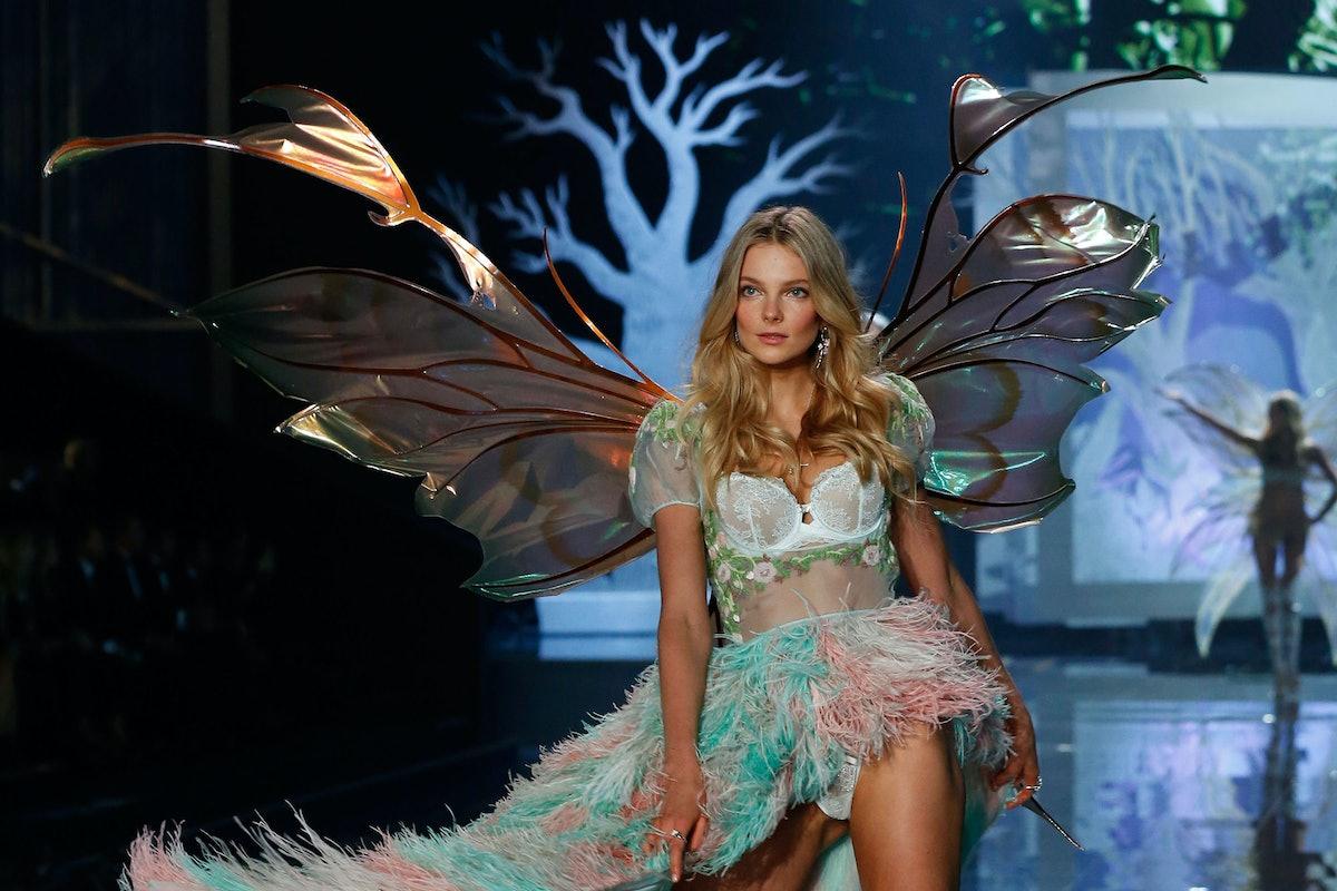 Eniko Mahalik walks in the 2014 Victoria's Secret Fashion Show
