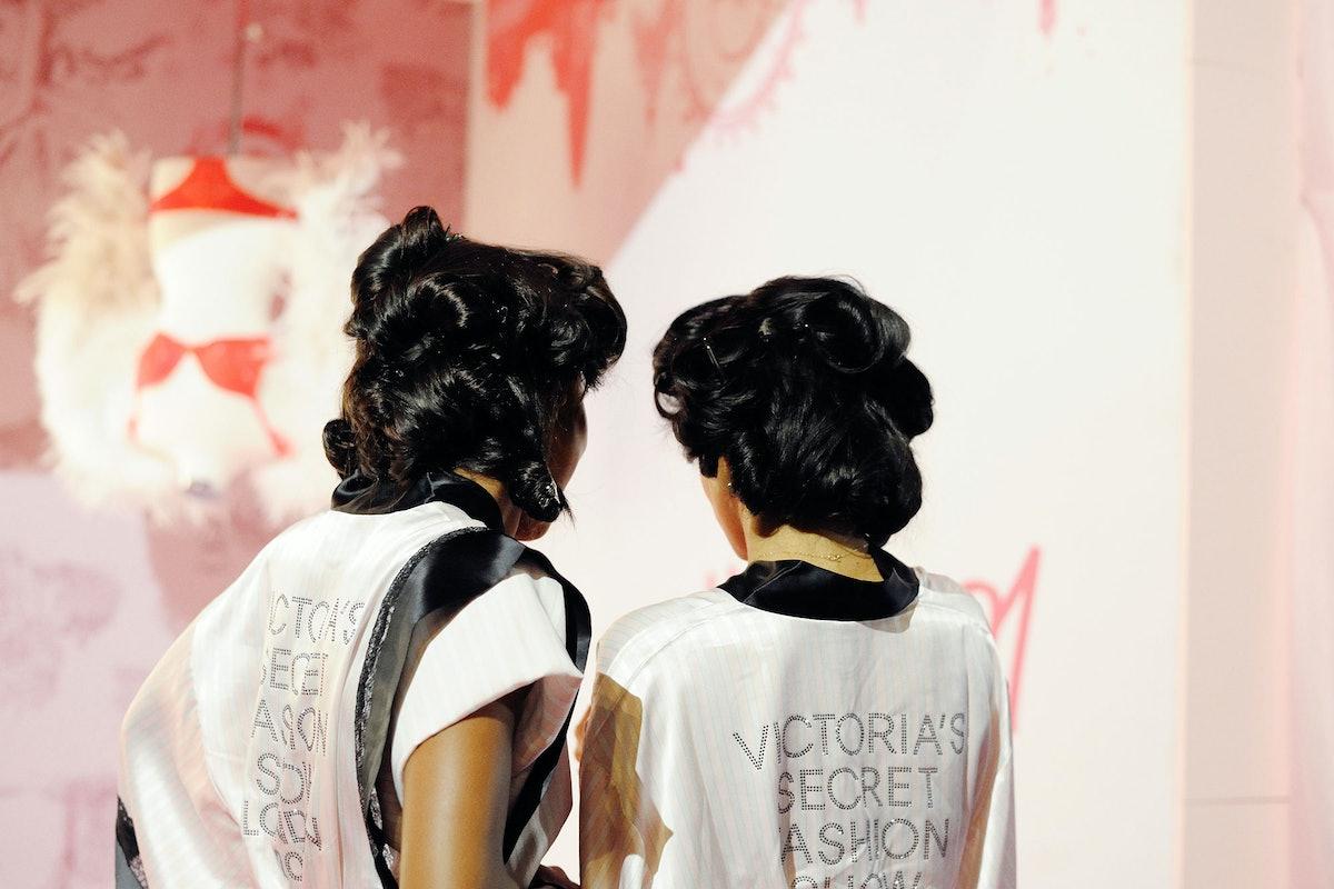 Backstage at the 2014 Victoria's Secret Fashion Show