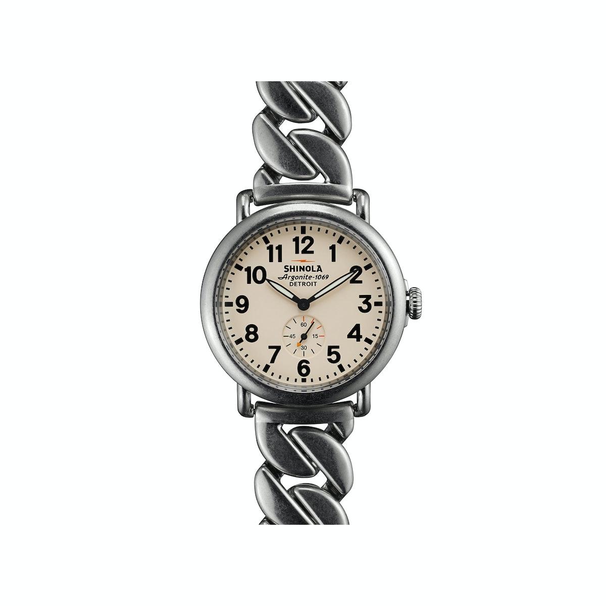 Shinola stainless steel link watch
