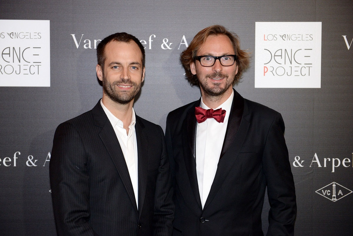 Benjamin Millepied and Nicolas Bos attend the Benjamin Millepied and Van Cleef & Arpels party