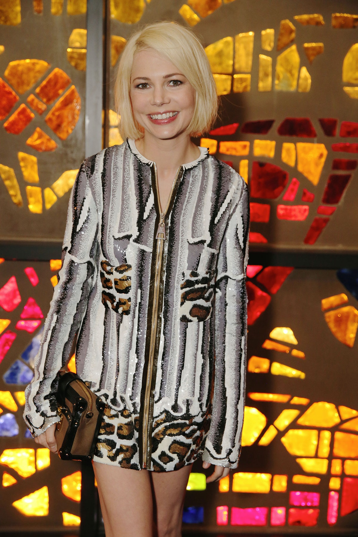 Michelle Williams attends Louis Vuitton's celebration of Pierre Paulin's Playing with Shapes