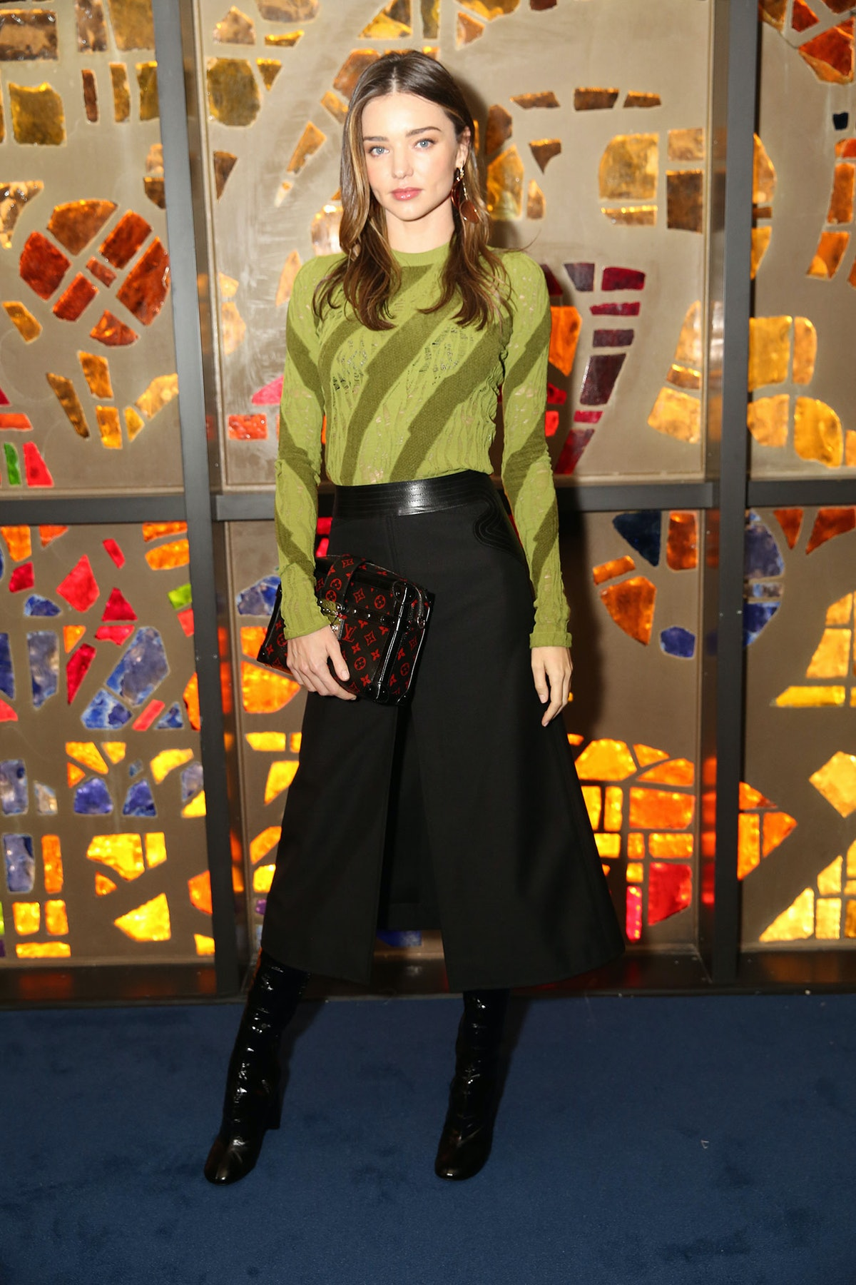 Miranda Kerr attends Louis Vuitton's celebration of Pierre Paulin's Playing with Shapes