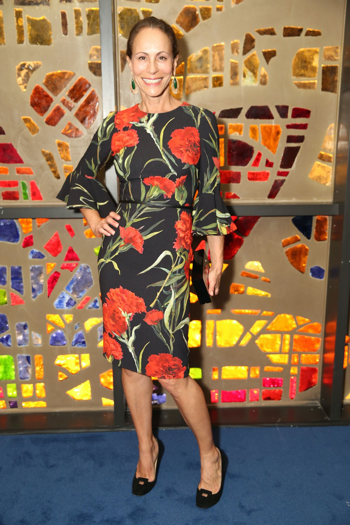Andrea Dellal attends Louis Vuitton's celebration of Pierre Paulin's Playing with Shapes