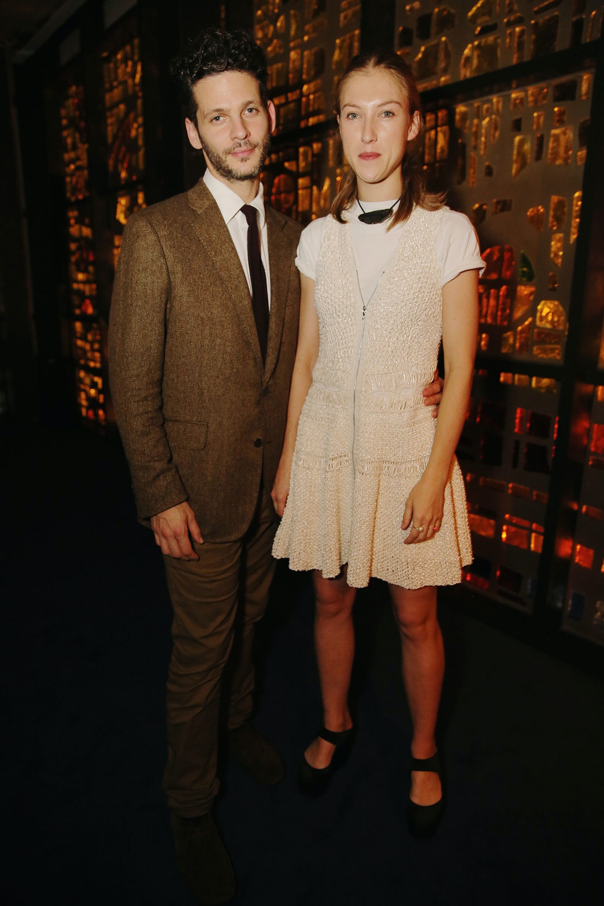 Benjamin and Lucie Paulin attend Louis Vuitton's celebration of Pierre Paulin's Playing with Shapes