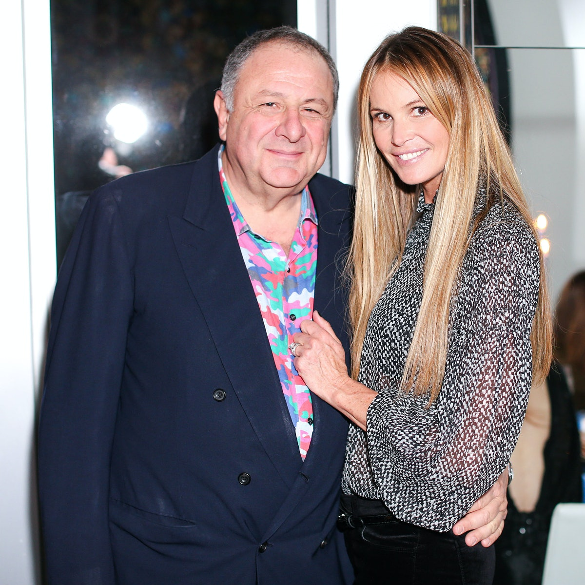 Jean Pigozzi and Elle Macpherson attend Tommy and Dee Hilfiger's Art Basel dinner party