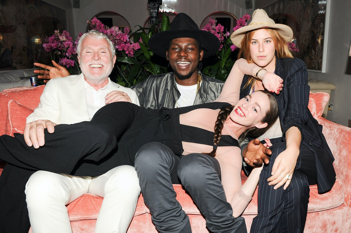 Glenn O'Brien, Theophilus London, Hailey Gates, and Scout Willis attend NeueHouse's TV party